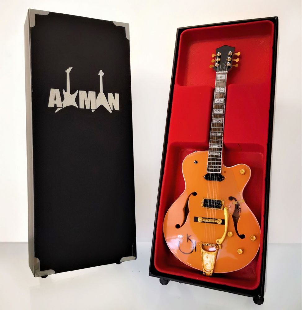 Eddie Cochran - Miniature Guitar Replica with Display Case and Stand
